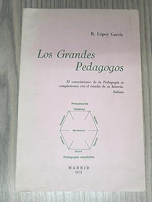 LOS GRANDES PEDAGOGOS.: B. LOPEZ GARCÍA