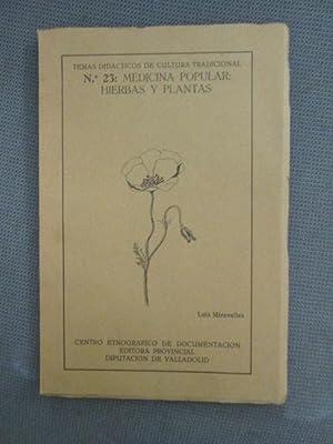 TEMAS DIDÁCTICOS DE CULTURA TRADICIONAL Nº23: MEDICINA: LUIS MIRAVALLES