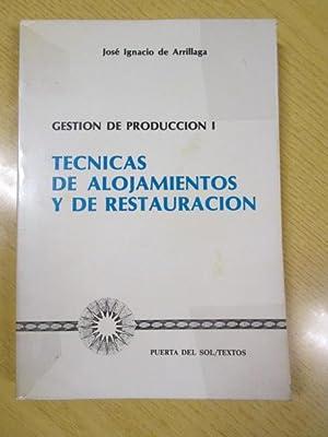 GESTIÓN DE PRODUCCIÓN I. TÉCNICAS DE ALOJAMIENTOS: JOSE IGNACIO DE