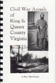 King and Queen County Virginia / Civil: Alfred Bagby