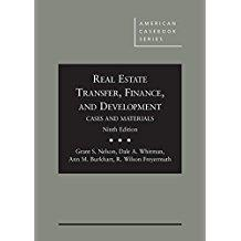 Real Estate Transfer, Finance and Development: Cases and Materials, 9th Edition (American Casebook)...