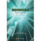 Foundations of Tort Law (Foundations of Law): Levmore, Saul; Sharkey,