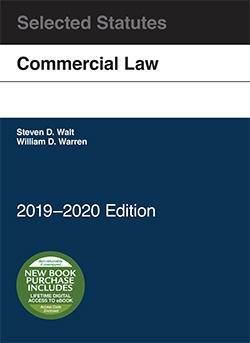Commercial Law, Selected Statutes: 2018-2019 Edition: Warren, William; Walt, Steven