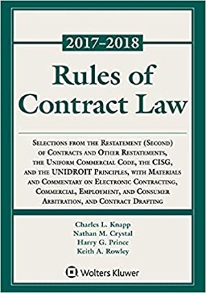 Rules of Contract Law Statutory Supplement: Knapp, Charles L.