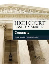 High Court Case Summaries on Contracts, Keyed: Editoral Staff, Publishers