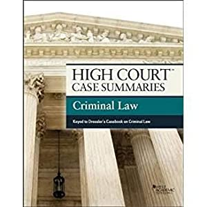 High Court Case Summaries on Criminal Law,: Editoral Staff, Publishers