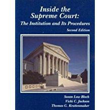 Inside the Supreme Court: The Institution and: Bloch, Susan; Jackson,