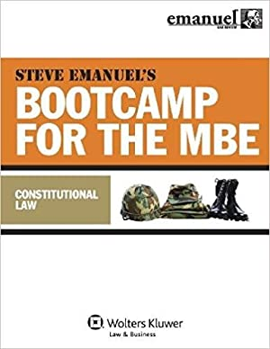 MBE Bootcamp: Constitutional Law (Bootcamp for the Mbe): Emanuel, Steven