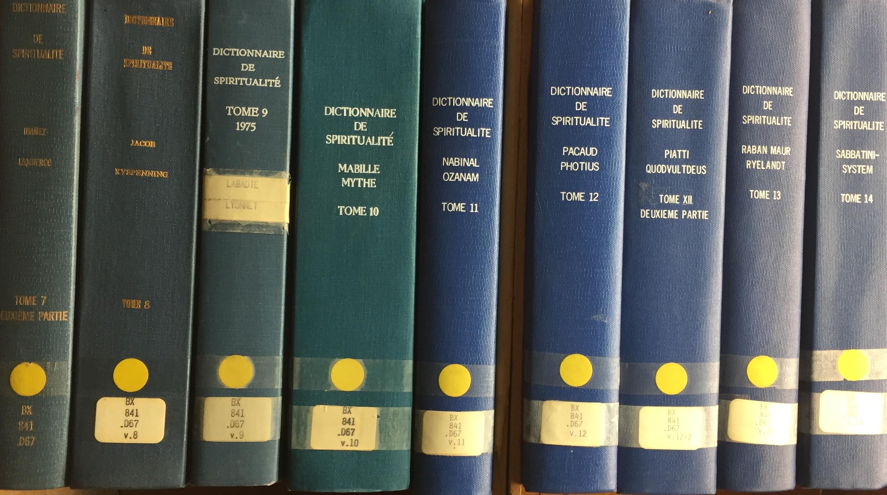 Dictionnaire de Spiritualite - Ascetique et Mystique, Doctrine et Histoire. 17 VOLUMES!