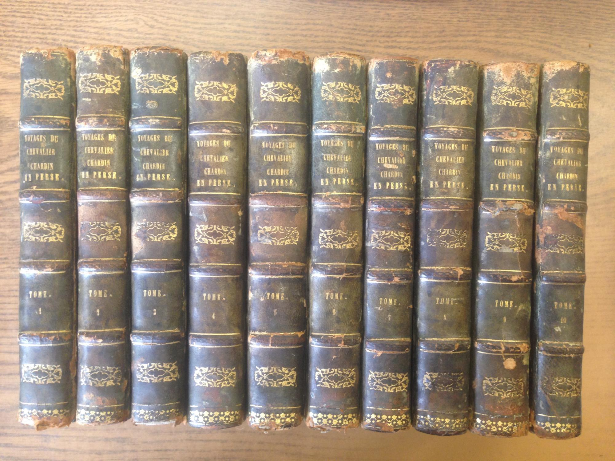Voyages du Chevalier Chardin, en Perse, et autres lieux de l'Orient. Nouvelle editio...par L. Langles. Dix Tomes