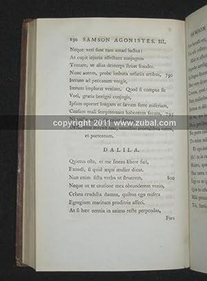 Sampson Agonistes. in Greek) Johannis Miltoni Samson Agonistes Graeco carmine redditus cum versione...