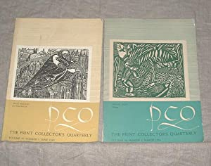 The Print Collector's Quarterly. Volume 30, Nos. 1 & 2, June 1949 & March 1950: ...