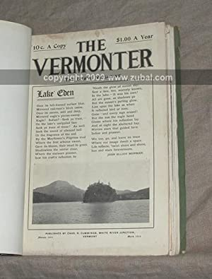 The Vermonter: A State Magazine. (1902-1945 passim): Chas. R. Cummings (publisher)