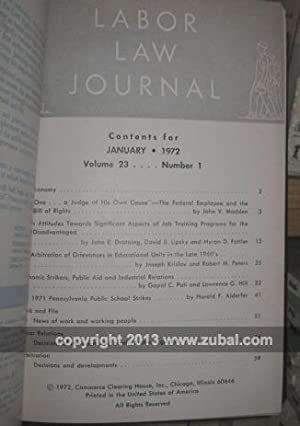 Labor Law Journal. Volumes 20-31, lacks vol. 22: Commerce Clearing House