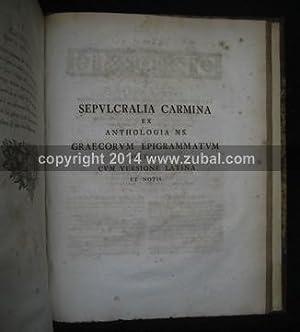 An Analytical Essay on the Greek Alphabet (bound with) Sepulcralia carmina ex anthologia m. s. ...