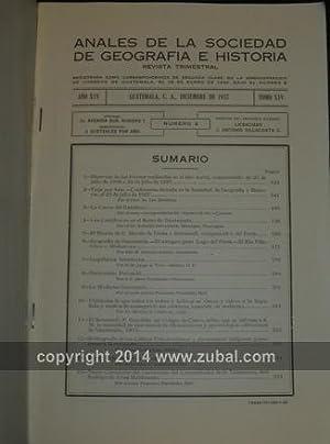 Anales de la Sociedad de Geografia e Historia de Guatemala. volumes 4-6, 8-15, 29-35, 37-38 (1928-...