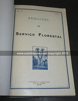 Arquivos do Servico Florestal. (Voumes 1-10, 1939-1956): Brasil. Ministerio da Agricultura.