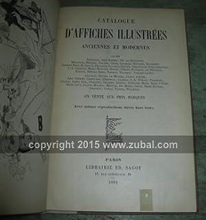Catalogue d'Affiches Illustrees Anciennes et Modernes. Avec quinze reproductions tirees hors ...
