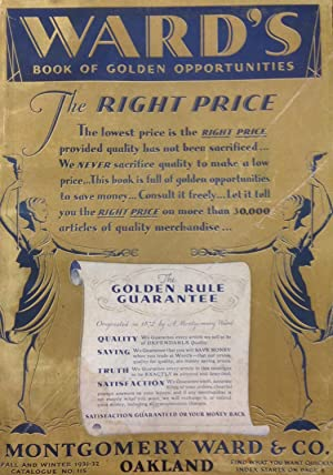 Ward's Book of Golden Opportunities. Montgomery Ward: Montgomery Ward &
