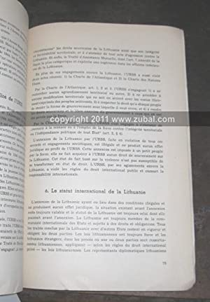 Memorandum relatif a la restitution de l'independance de L'Etat Lithuanien: Comite ...
