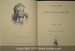 Life of Jonathan Swift. Second edition. With portraits. 2 volumes: Harry Craik