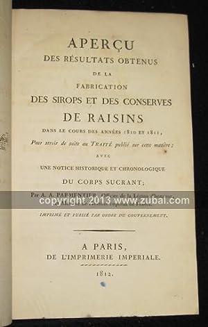 Apercu des resultats obtenus de la fabrication des sirops et des conserves de raisins dans le cours...