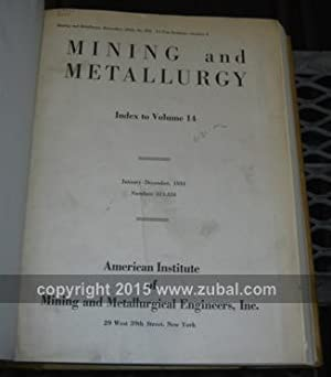Mining and Metallurgy. vols. 1-29