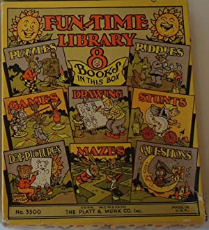 Fun-Time Games No. 3500 (six books - Puzzles, Riddles, Games, Drawing, Stunts, Dot-Pictures, Mazes,...