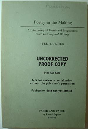 Poetry In The Making: HUGHES, Ted