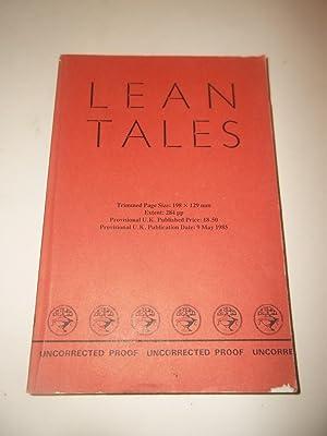 Lean Tales (uncorrected proof copy): James Kelman; Alasdair