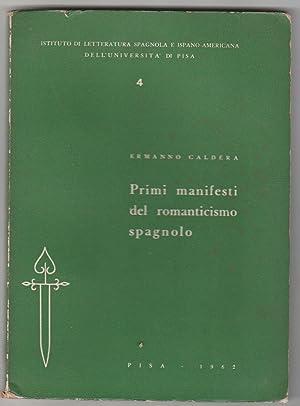 Primi manifesti del romanticismo spagnolo: Ermanno Caldera