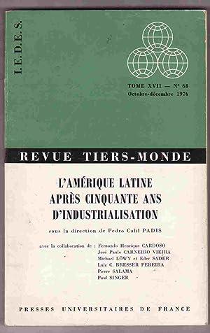Revue Tiers-monde: L'Amérique Latine après 50 ans: Fernando Henrique Cardoso;