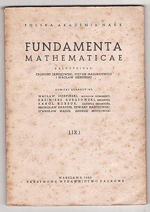 Polska Akademia Nauk Fundamenta Mathematicae vol. LVI,