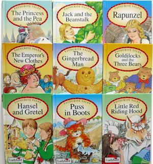 Ladybird Favourite Tales x9 Rapunzel, Jack and the Beanstalk, Hansel and Gretel, The Emperor's Ne...