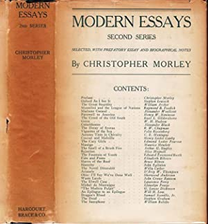 Modern Essays (Second Series) [SIGNED]: MORLEY, Christopher (Willa