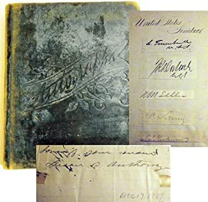 Autograph Collection Book, Including Senators, Congressmen, Confederate: ANTHONY, Susan B.;