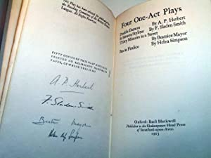Four One-Act Plays: HERBERT, A. P.;