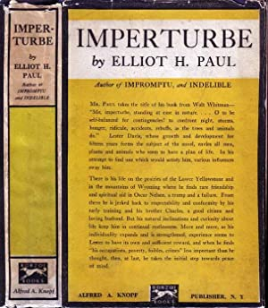 Imperturbe: A Novel of Peace Without Victory: PAUL, Elliot H
