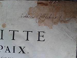 TRAITTE' DE PAIX ENTRE LES COURONNES DE FRANCE ET D'ESPAGNE, AVEC LE CONTRACT DE MARIAGE DU...