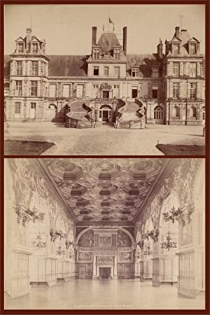 Palais de Fontainebleau - 2x Albuminabzug -: Hautecoeur, Jules