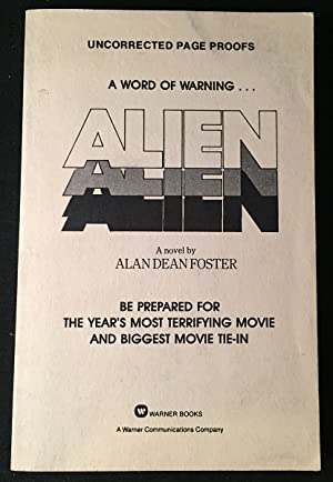 ALIEN (SIGNED ORIGINAL UNCORRECTED PAGE PROOFS / ARC)