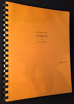 The Right Stuff: A Screenplay from Tom: Film Related) WOLFE,