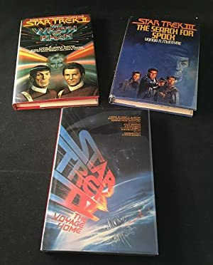 Star Trek Film Novelization Run (SIGNED BCE Star Trek II, III & IV)
