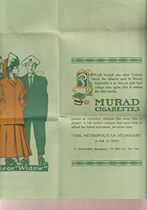 Murad Cigarettes Broadside with Color Illustration