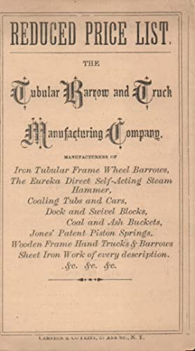Reduced Price List. The Tabular Barrow and
