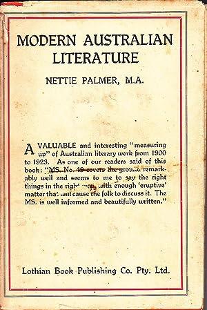 Modern Australian Literature (1900-1923): Palmer, Nettie