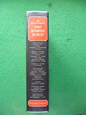 The Reader's Digest Great Encyclopaedic Dictionary Volume