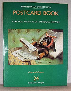 SMITHSONIAN INSTITUTION POSTCARD BOOK - DOGS AND PUPPIES