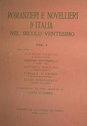 Romanzieri e novellieri d'Italia nel secolo ventesimo. Saggi critici su: Panzini di A.Saitta, ...