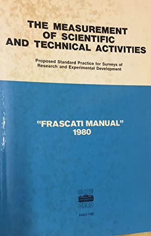 The Measurement of Scientific and Technical Activities 'Frascati Manual' 1980.